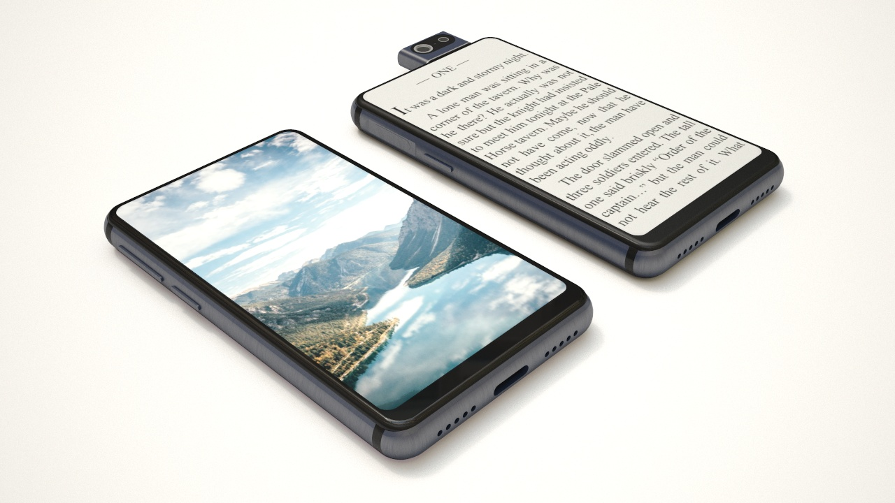 Small handy smartphone with dual screen : OneDevice