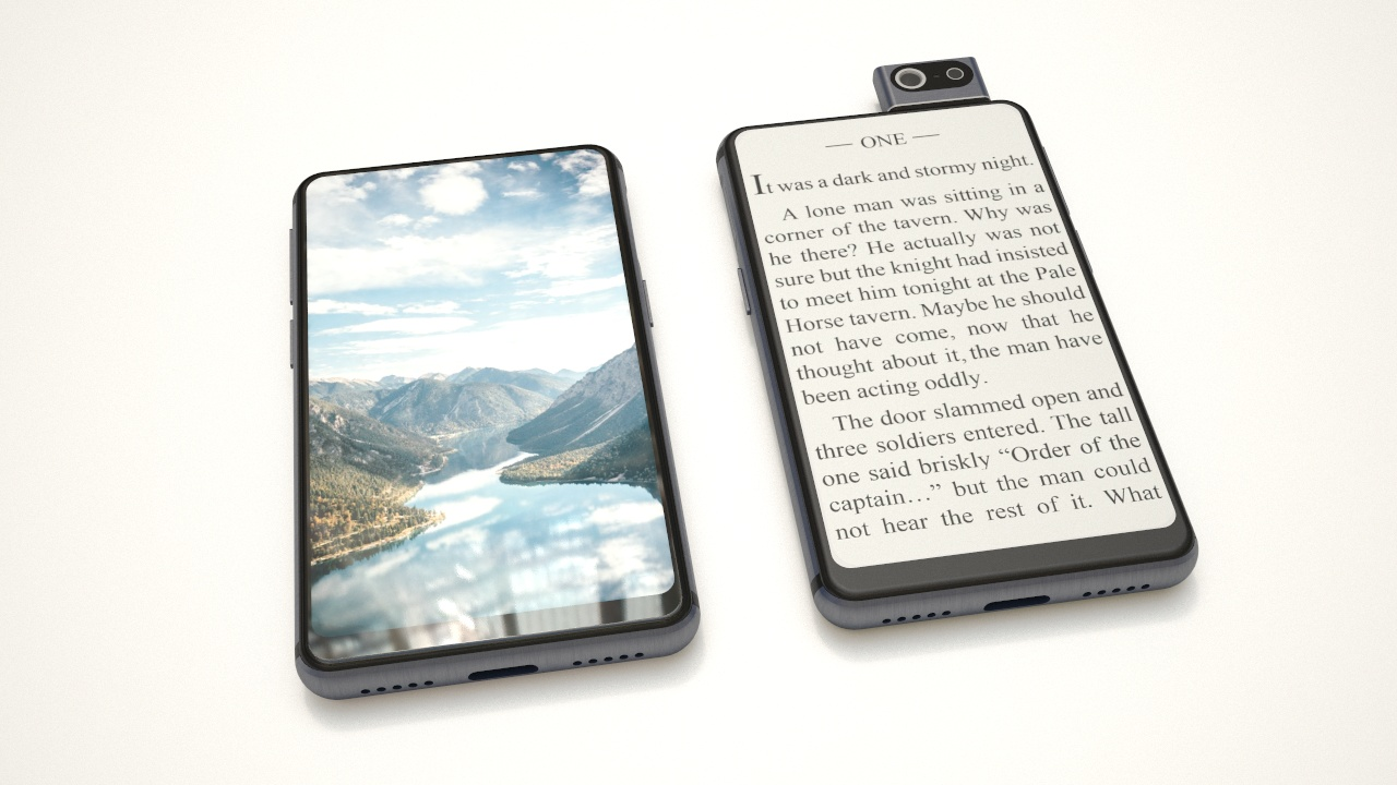 Dual screen smartphone with eink and a small handy size : One Device
